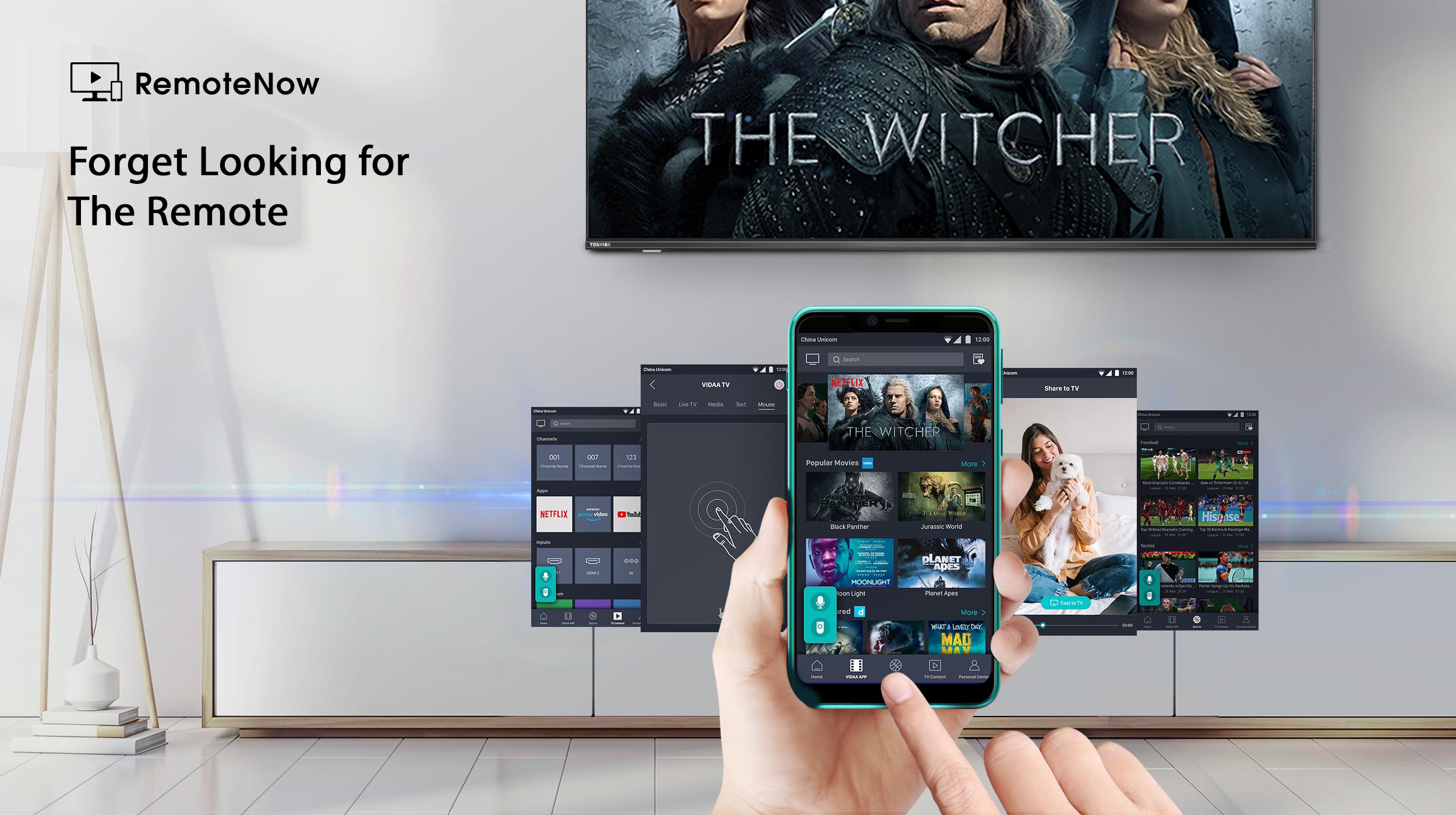 Toshiba 4K Smarter TV with RemoteNow Android & iOS App